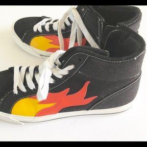 ZARA On Fire Hi-Tops🔥🔥🔥